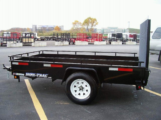 Where to find 7X12 BLACK SURETRAC TRAILER, 3500 GVWR in Toledo