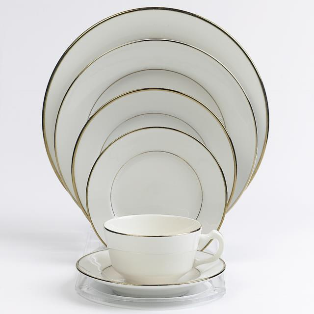 Where to find PLATE,10  CREAM WITH GOLD RIM in Toledo