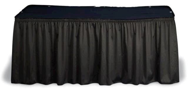 Where to find 8  TABLE SKIRT, BLACK in Toledo